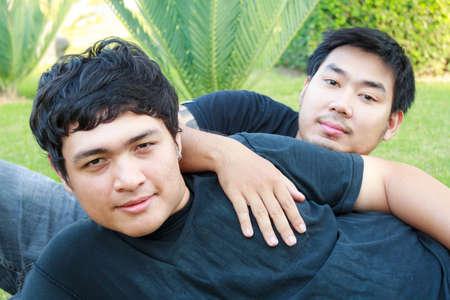 gay lifestyle: Gay Asian Boy  Stock Photo