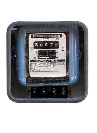 contador electrico: Contador el�ctrico aislado sobre fondo blanco