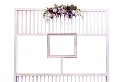 Picture Frame Hanging On Modern Wood Arch photo