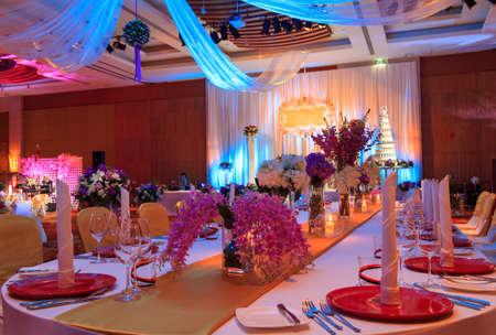 högtider: Lyx Inomhus Wedding Party Banquet Room