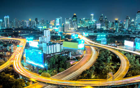 Bangkok High Angle View At Twilight photo