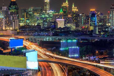 Bangkok High Angle View At Twilight photo