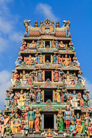 Hindu Temple With Goddess Statue In Singapore City photo