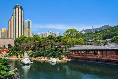Pavilion Of Absolute Perfection In Nan Lian Garden, Chi Lin Nunnery, Hong Kong photo