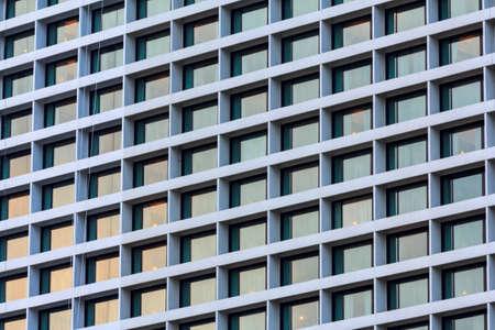 Close Up Crowded Glass Windows photo