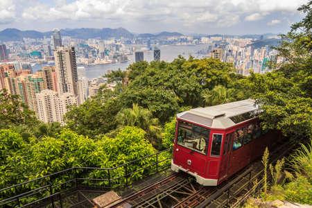Hong Kong Peak Tram With City View