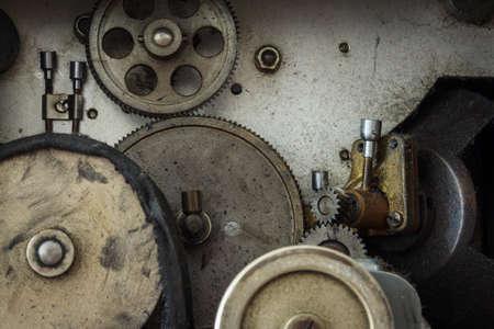 backlash: Close Up Inside Motor Mechanism Stock Photo