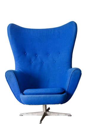 old furniture: Luxury Modern Blue Vintage Chair On White Background