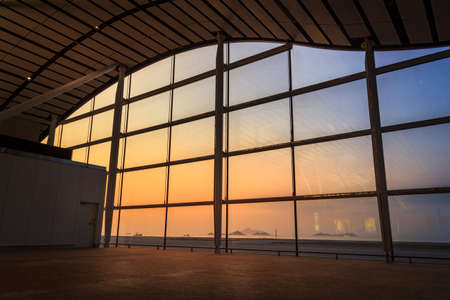 viewpoint: Airport Window With Sunset Viewpoint