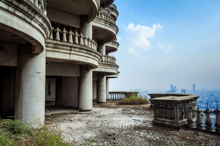roof apartment: Abandoned Building In Bangkok City Thailand.