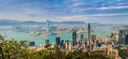 kong river: Hong Kong Panorama Victoria Harbor View