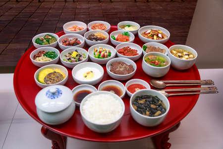 contorni: Set Di tradizionale coreana alimentari Contorni