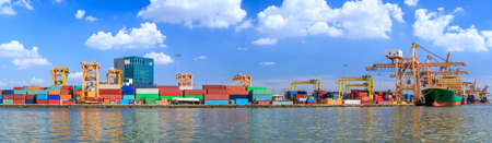 Warehouse Of Goods Import Industrial Cargo Crowded With Containers