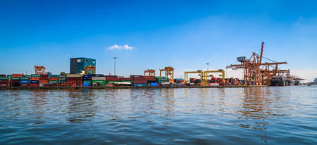port: Bangkok, Thailand - November 22, 2015: PAT-Port Authority of Thailand is a coastal port or Transhipment port, 1 of 6 of the biggest ports in Thailand. Editorial