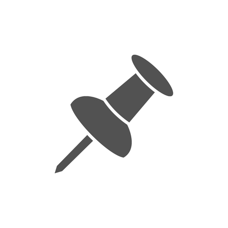 tack: Isolated pushpin on a white background Illustration