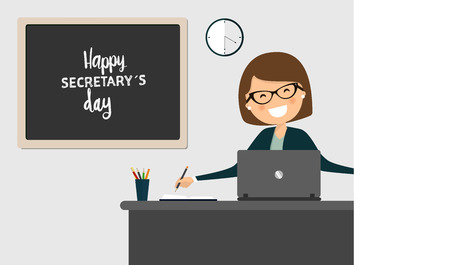 Happy secretarys day celebration. Illustration