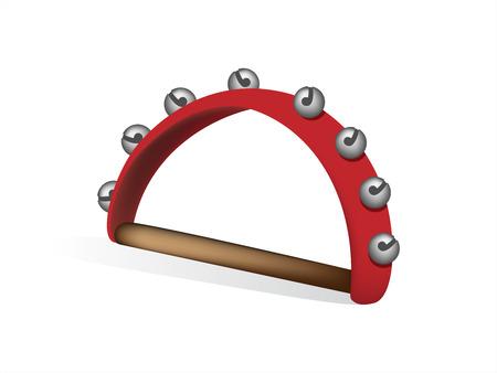 Bells muziekinstrument op een witte achtergrond. Vectorillustratie Stockfoto - 87528715