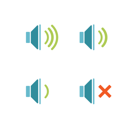 Isolated sound icons.