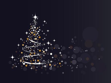 Fondo de árbol de Navidad de brillo. Ilustración vectorial