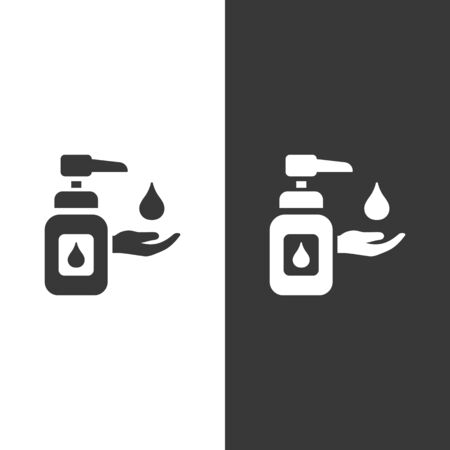 Sanitizer soap icon. Isolated image. Flat pharmacy and medicine vector illustration