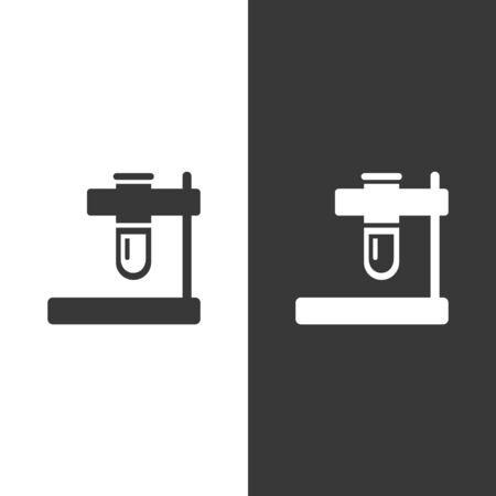 Test tube icon. Isolated image. Flat pharmacy and laboratory vector illustration