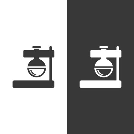 Florence flask. Flat icon. Isolated pharmacy and science vector illustration