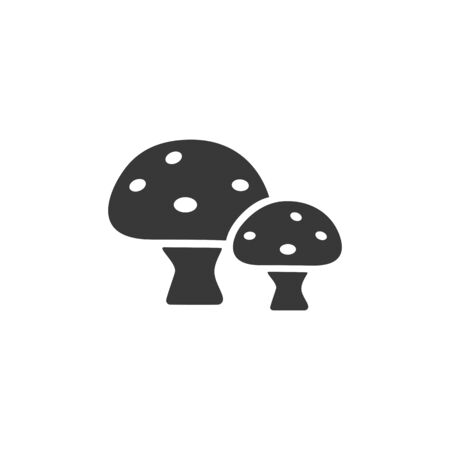 Mushrooms. Isolated icon. Nature and fall flat vector illustration Ilustração
