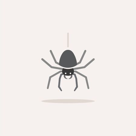 Spider. Color icon with shadow. Animal glyph vector illustration 向量圖像
