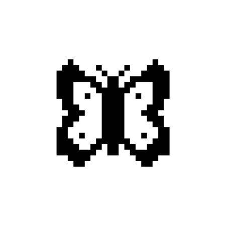 Butterfly. Pixel icon. Isolated animal vector illustration