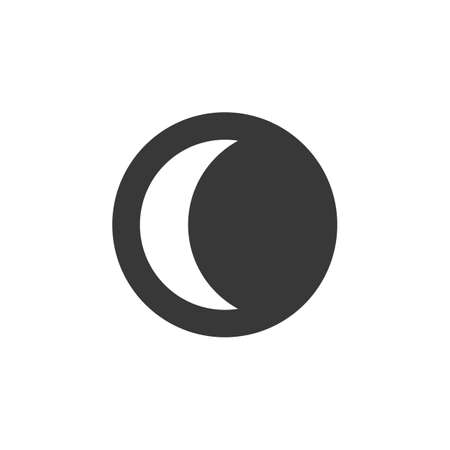 Moon phase. Waning Crescent. Isolated icon. Weather glyph vector illustration Illustration
