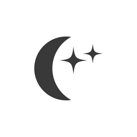 Moon with stars. Isolated icon. Weather glyph vector illustration Illustration
