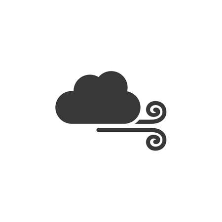 Wind and cloud. Isolated icon. Weather glyph vector illustration