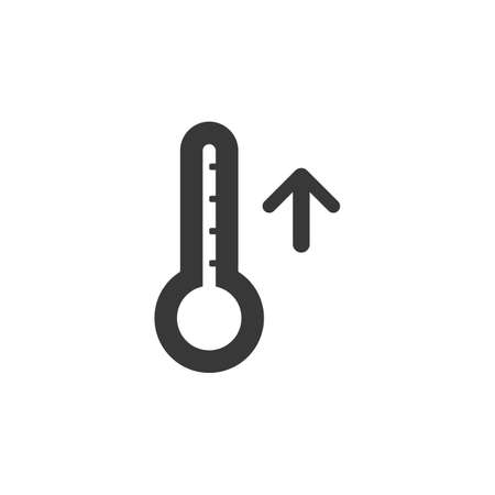 Thermometer. Rise temperature. Isolated icon. Weather glyph vector illustration