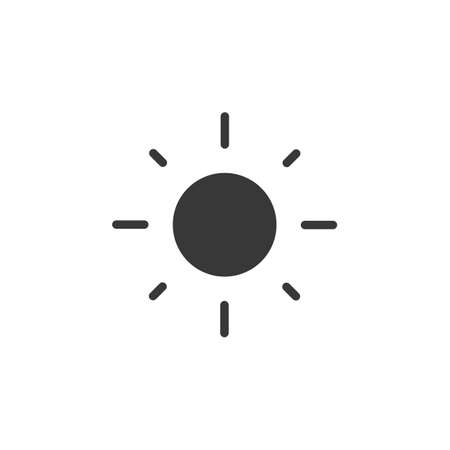 Shining sun. Isolated icon. Weather glyph vector illustration