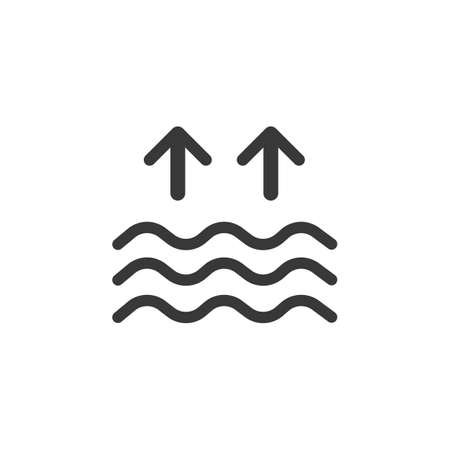 High tides. Waves on the sea. Isolated icon. Weather glyph vector illustration Illustration