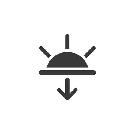 Sunset. Isolated icon. Weather glyph vector illustration Illustration