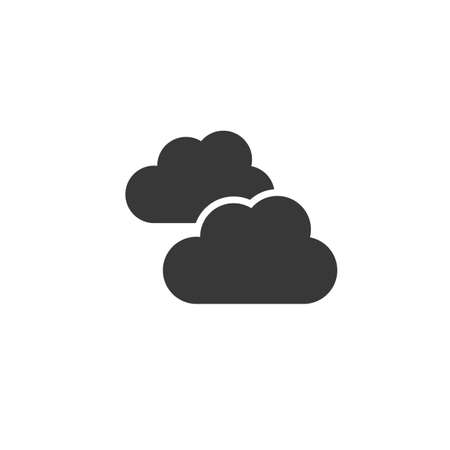 Clouds. Overcast. Isolated icon. Weather glyph vector illustration Illustration
