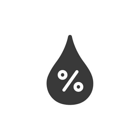 Humidity percent. Isolated icon. Weather glyph vector illustration Illustration
