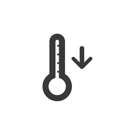 Thermometer. Fall temperature. Isolated icon. Weather glyph vector illustration Illustration