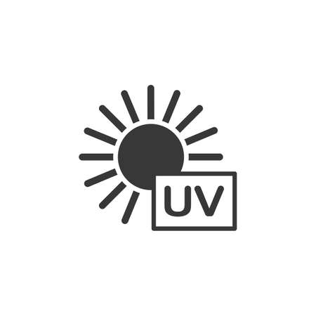 Ultra violet ray sun. Isolated icon. Weather glyph vector illustration