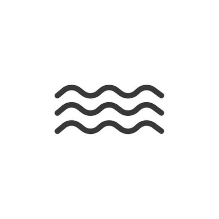 Waves on the sea. Isolated icon. Weather glyph vector illustration