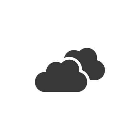 Overcast. Clouds on the sky. Isolated icon. Weather glyph vector illustration Illustration