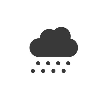 Hail and cloud. Isolated icon. Weather glyph vector illustration