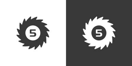 Hurricane. Category five. Fifth rate. Isolated icon on black and white background. Weather glyph vector illustration