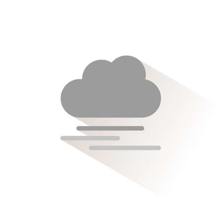 Heavy fog and cloud. Isolated color icon. Weather glyph vector illustration