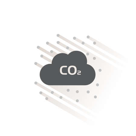 Pollution. Isolated color icon. Weather glyph vector illustration 矢量图像