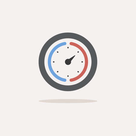 Barometer. Color icon with shadow. Weather glyph vector illustration