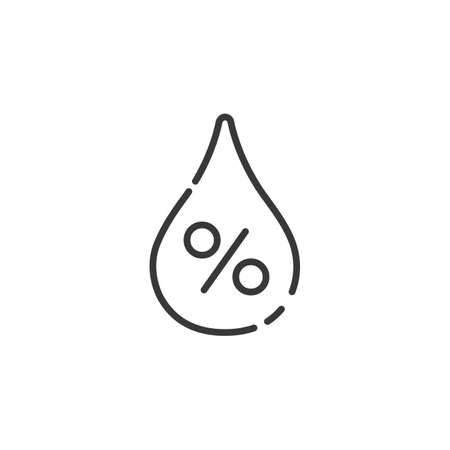 Humidity thin line icon. Isolated outline weather vector illustration