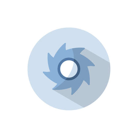 Hurricane. Category four. Flat color icon on a circle. Weather vector illustration 矢量图像