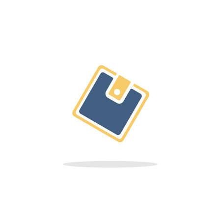 Wallet. Color icon with shadow. Commerce glyph vector illustration Illustration